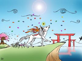 Okami Fan art. by DareGT