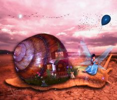 Snail travel by annemaria48