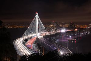 San Francisco, New Bay Bridge 1 by alierturk