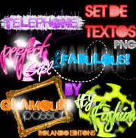 SET DE TEXTOS PNG beauty by RolandoEditions
