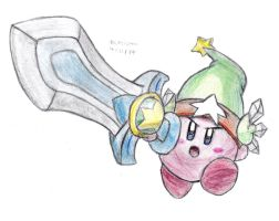 Ultra Sword Kirby by DrChrisman