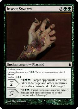 Insect Swarm Plasmid MTG card by dixyn0rmous