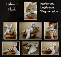 Reshiram Plush by Starfighter-Suicune