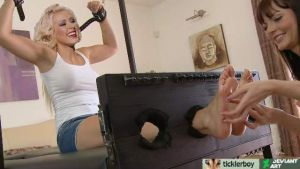 Christina Aguileras oily soles tickled by ticklerboy