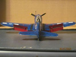 SBD Dauntless: Back View by cloudyrainbow561