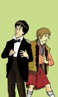 2nd Doctor and Jamie by AdAbsurdum