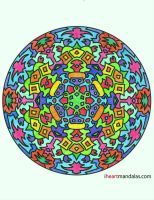 Mandala Coloured Not Afraid of Colour by Dygyt-Alice