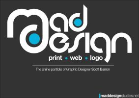 Portfolio front page by MadDesign