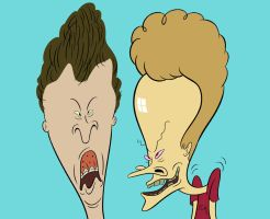 Butt-Head und Beavis by LooneyLion