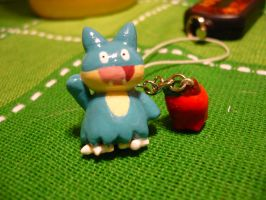 Munchlax apple charm by chibimemories