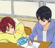 HaruRin (Free!) by vexatiousProtester
