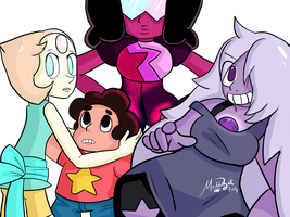 We Are the Crystal Gems..! by MaddieBat