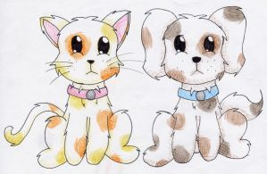 A Kitty And A Puppy by Zaratulah