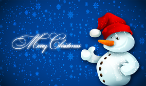 Merry Christmas Snowman Wallpaper by Andycoco