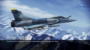Ace Combat Infinity Mirage 2000-5 Loading Screen. by LooneyAces