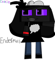 Minecraft - Endermolli The Enderman by Cookie-Sky