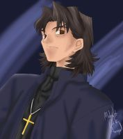 FSN Portrait - Kotomine by Midnight-Dark-Angel