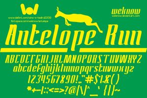 antelope run font by weknow by weknow
