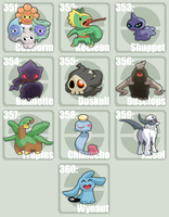 Poke Template 351 - 360 by tazsaints