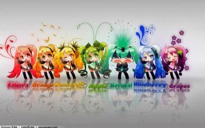 vocaloid chibi group by lavaria-chan