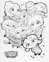 Dork Diaries (lineart) by sweetchiyo001