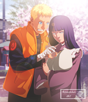 Naruto, Hinata and Boruto | Coloration by xRyuuzakii