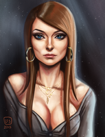Bust Sketch Port__Effy by BlackBirdInk