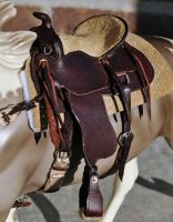 1:9 scale Western saddle by silverdragon76