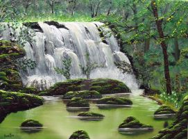 Wooded Falls by DonBowling