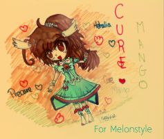 [APH-Smile Precure]: Cure Mango! (For Melonstyle) by Usagi1o1