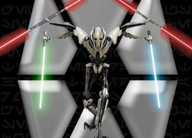 Grievous With Red Sabers by F50Grunt