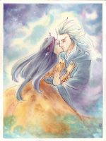 Xemnas Kiss: Commission by dabean