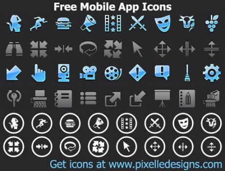 Free Mobile App Icons by Ikonod