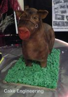 Standing Cow Cake 2 by cake-engineering