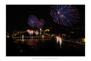 Fireworks at Budapest 2013 by DimensionSeven