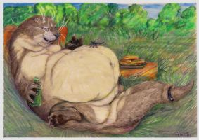 Fat otter rest by SSsilver-c