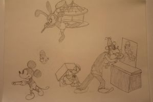 Lonesome Ghosts Plus Oswald by davidbore