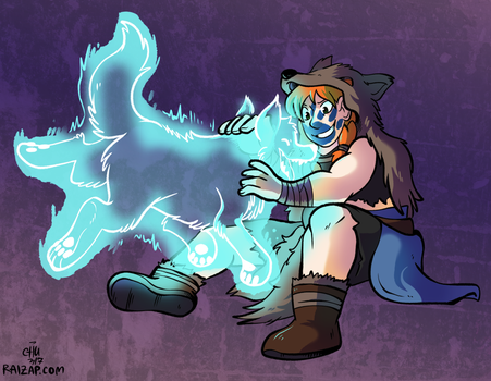 [Commission] Ruba Geld and Wolf Spirit by raizy