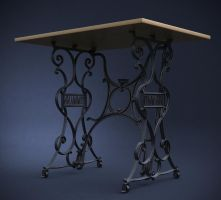 My old iron desk - 3D remake by Brazowy