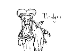 Drudger Sketch and Concept by reasonablygay