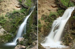 Waterfall Before and After Rain by AgiVega
