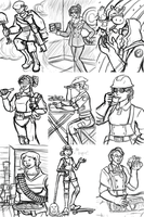 Team YLO Portrait Set (Rough Sketches) by InkRose98