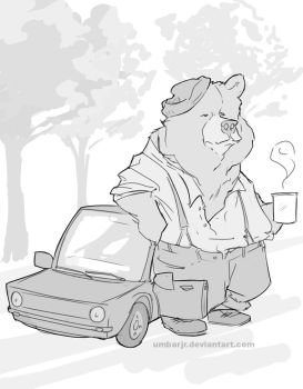 Morning Coffee Bear by UmbarJr