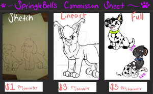 New Commission Price Sheet by cookiesandcheesecake