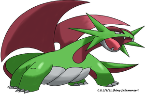 Shiny Salamence by Phatmon