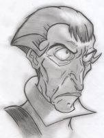 Frollo - Portrait / Bust (Shadowed Concept Art) by yami0815