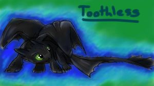 Tie-dye Toothless by SnowstormSpirit2285