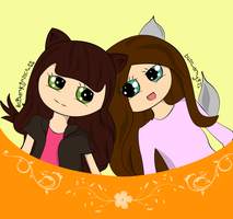 .:Me and buneary45:. by AnDarkPrincess