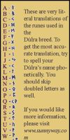 Dulra Runic Alphabet/Translator by KuraNova