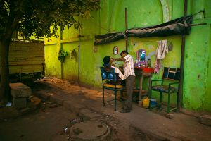 barber shop in Delhi by alijabbar
